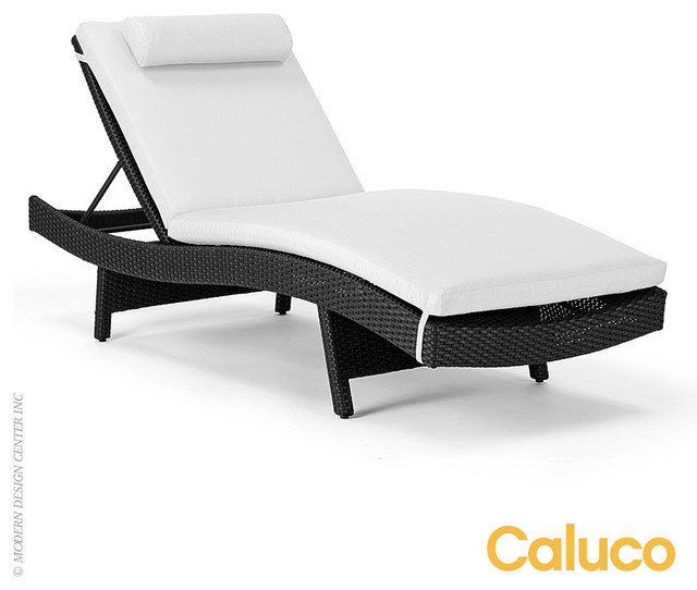 Caluco dijon curved single chaise modern chaise longue for Chaise longue tours