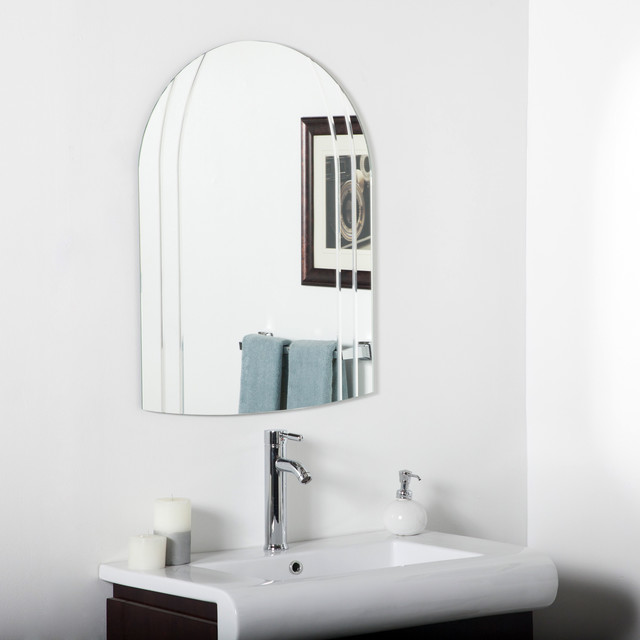 Serina Modern V Groove Vertical Bathroom Mirror
