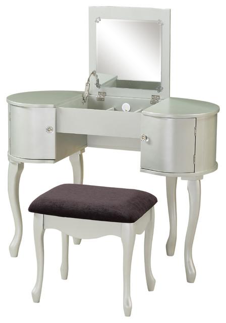 paloma vanity set contemporary bedroom makeup