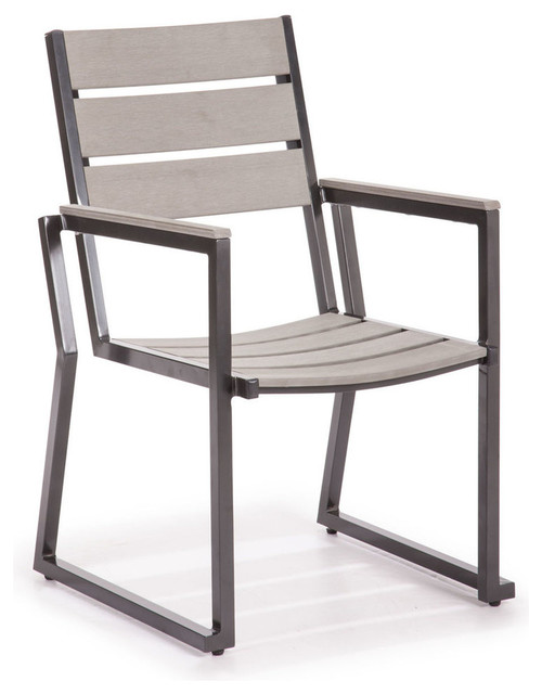 Zuo Modern Megapolis Dining Chair in Gray Modern Outdoor Dining Chairs