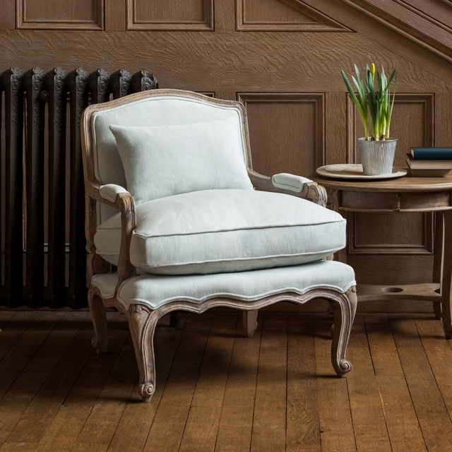 Rochelle French Armchair Eau De Nil Traditional