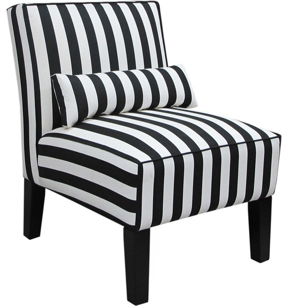 Skyline Furniture Canopy Stripe Armless Upholstered Chair