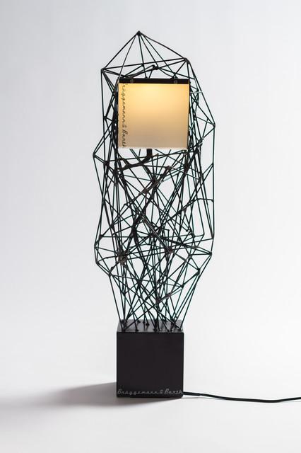 designlampe christo on steel industrial stehleuchten. Black Bedroom Furniture Sets. Home Design Ideas
