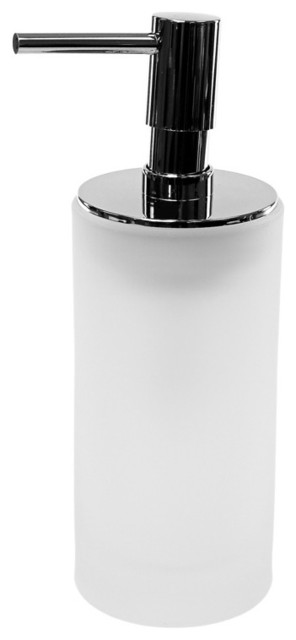 Free Standing Glass Soap Dispenser White Contemporary Soap Lotion Dispensers By