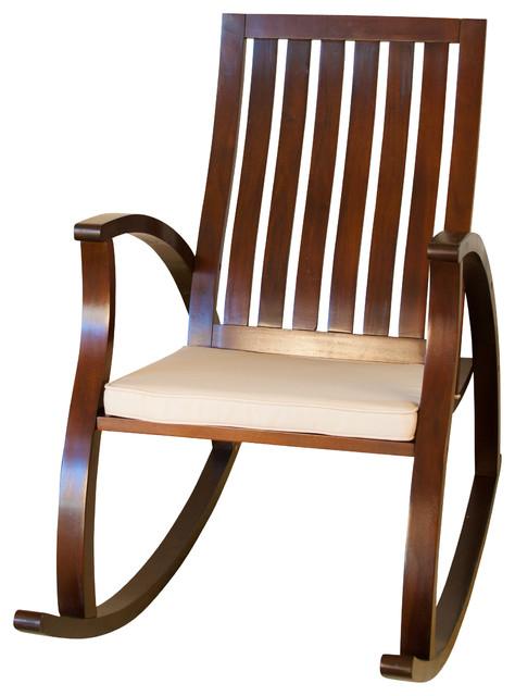 Worcester Brown Rocking Chair - Midcentury - Rocking ...