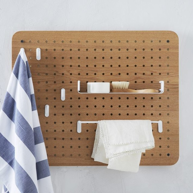 how to put up a pegboard organizer in the garage