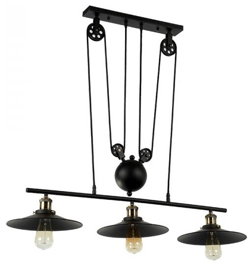 Garian Island Light Matte Black Industrial Kitchen Island Lighting By Parrotuncle