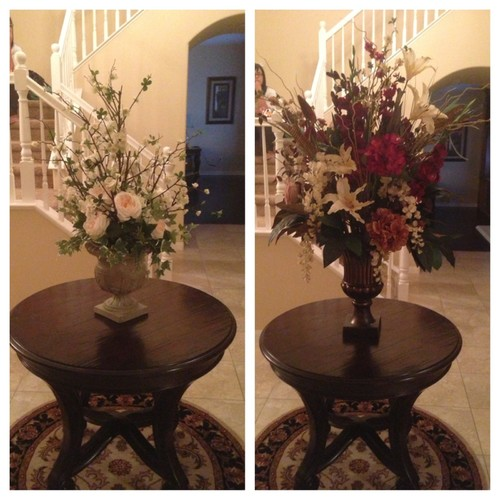 Floral arrangement on foyer table poll for Foyer flower arrangement