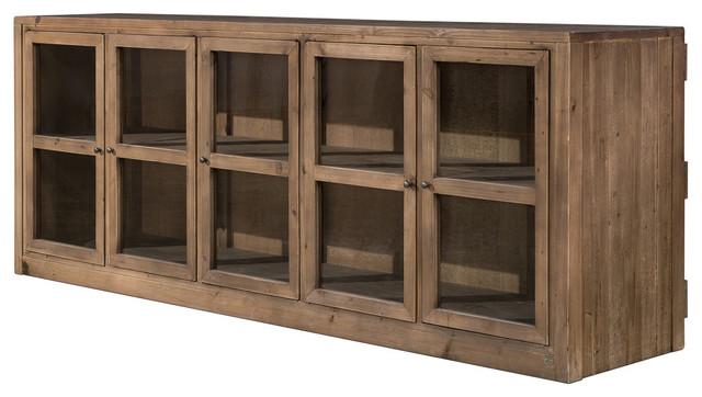 Osborn Rustic Flat Screen Cabinet - Rustic - Buffets And Sideboards ...