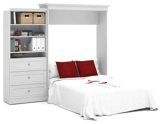 101 In Queen Wall Bed And Storage Unit With 3 Drawers In