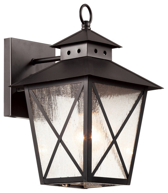 Chimney 2 Light Outdoor Wall Lights in Black Farmhouse Outdoor Wall Light
