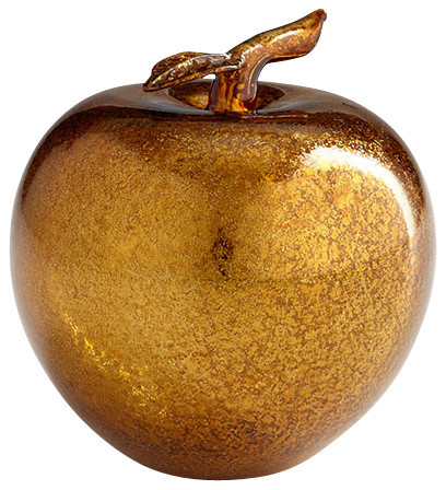 Gold apple sculpture contemporary decorative objects for Modern decorative objects
