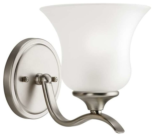 Wall Sconces Transitional : Kichler Lighting 5284NI Wedgeport Transitional Wall Sconce In Brushed Nickel - Transitional ...