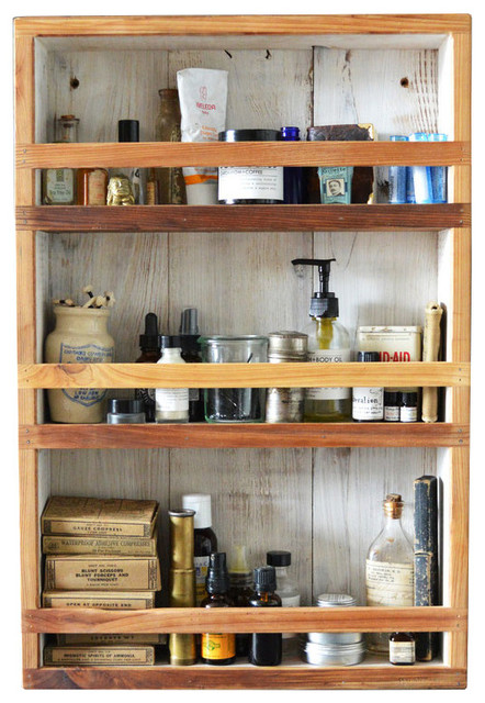 Reclaimed Apothecary Cabinet - Rustic - Shelving - by Dot & Bo