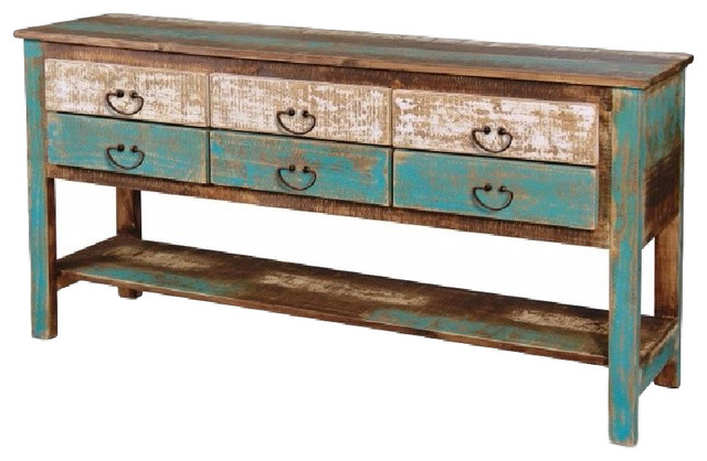 Reclaimed Solid Wood Sideboard  Coastal  TV Stands & Units  by Crafter -> Rotes Tv Sideboard