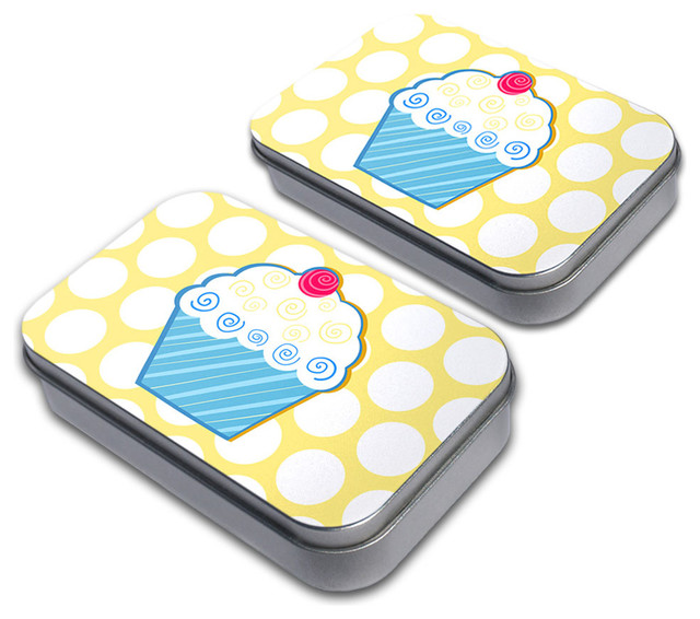 Tasty Cupcake Tin Set - Contemporary - Decorative Boxes - by Made on Terra