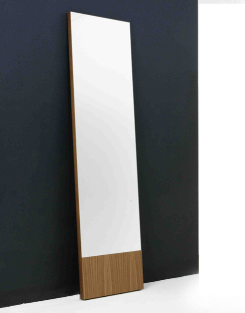 Bensen lean narrow mirror modern freestanding mirrors for Narrow mirror