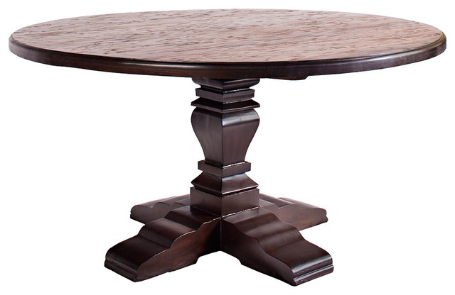austin 60' round table  rustic  dining tables
