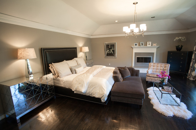 Glamorous Master Bedroom - Transitional - Bedroom - new ...