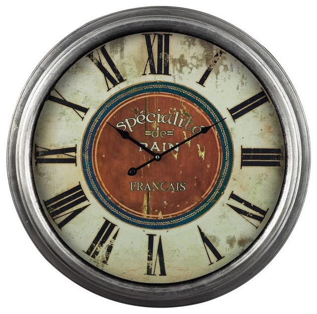 Sterling Industries Specialite 24 Inch Round Wall Clock In