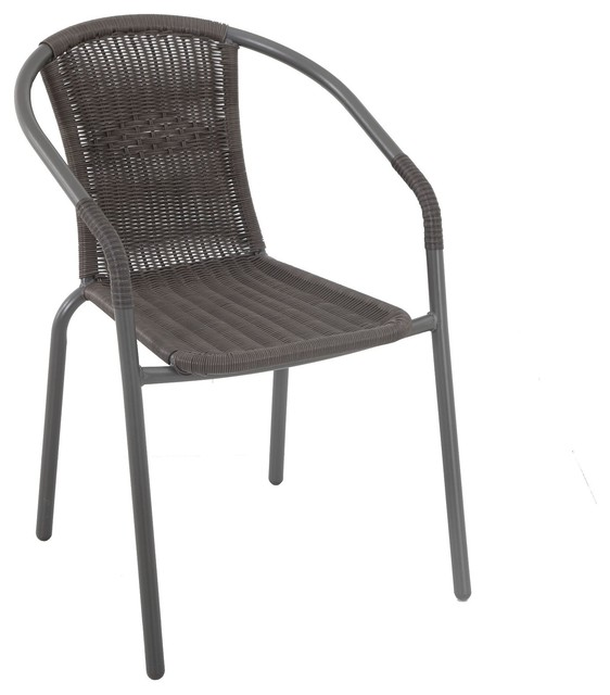 Manhattan Wicker Chair Brown Contemporary Garden Dining Chairs Other M