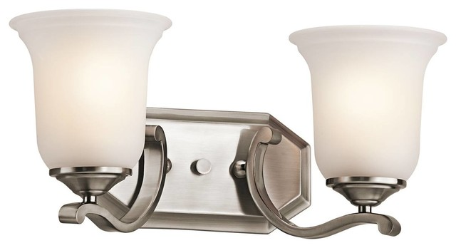 Kichler Wellington Square Bathroom Lighting Fixture In Classic Pewter Tradi