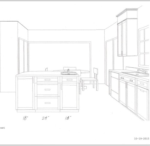 Kitchen island configuration prep sink and mixer riser for Kitchen configurations