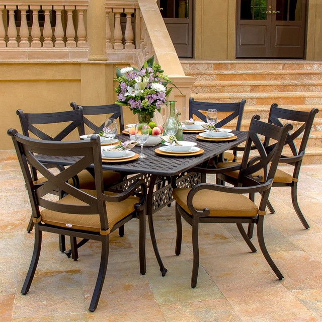Avondale 6-Person Cast Aluminum Patio Dining Set