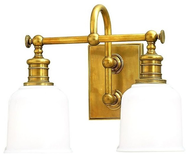 Vintage Style Aged Brass Bathroom Wall Light 1972 AGB Industrial Bathro