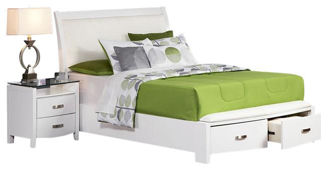 homelegance lyric 3 piece storage platform bedroom set in