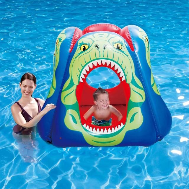 Blue wave piranha floating pool habitat nt1761 for Pool floats design raises questions