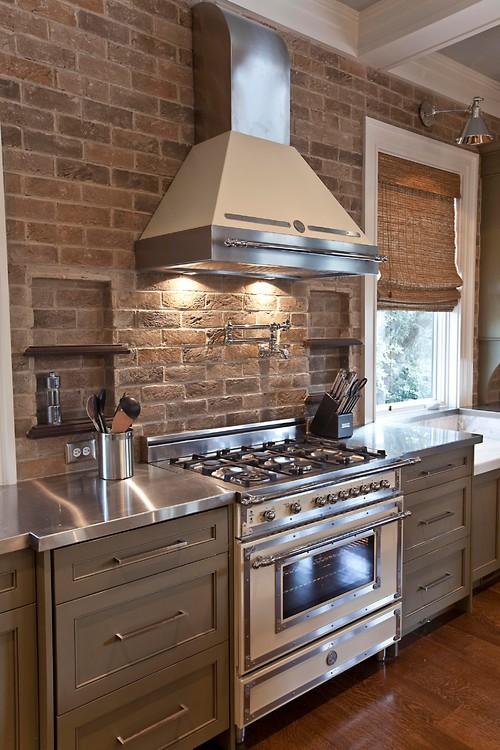Kitchen Design Brick Backsplash