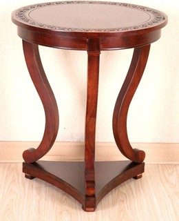 Hand Carved Wood End Table - Contemporary - Side Tables And End Tables ...
