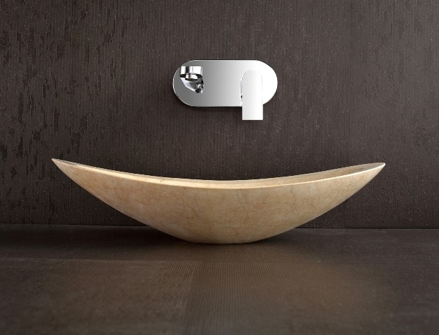 Designer countertop natural stone basin nero modern bathroom sinks other by nova deko - Designer bathroom sinks basins ...