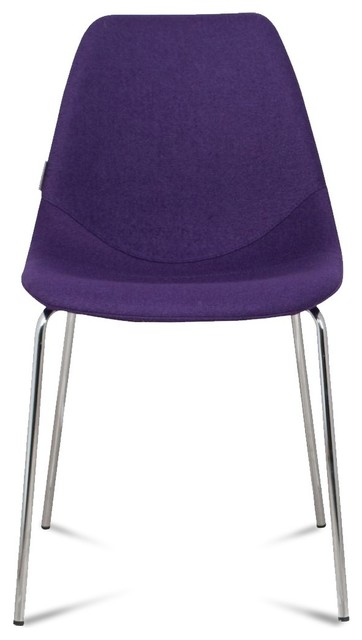 Lot de 2 chaises design fifteen up couleur violet for Chaise moderne couleur