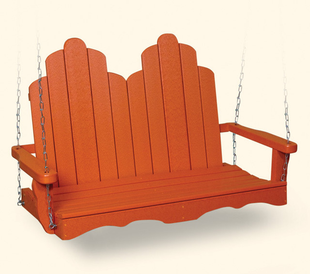 Recycled Plastic Adirondack Swing - Modern - Patio Furniture And Outdoor Furniture - boston - by ...