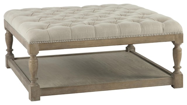 square upholstered ottoman coffee table 1