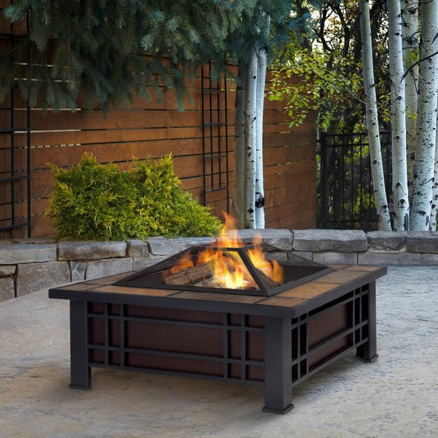 real morrison 33 inch wood burning pit modern pits by ultimate patio