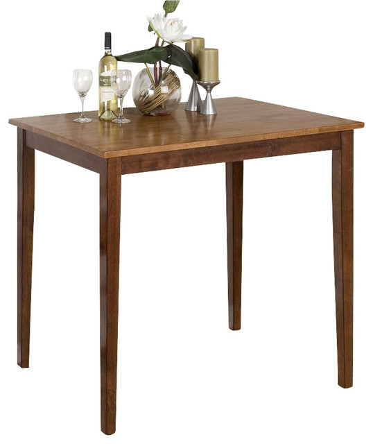 Counter Height Espresso Table : Jofran Counter Height Fixed Top Table in Kura Espresso and Canyon Gold ...