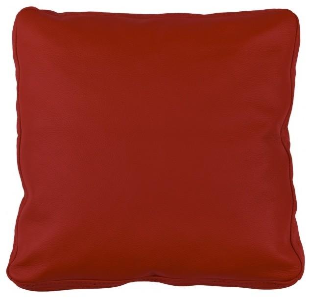 dekokissen omnia iii 40x40 leder rot minimalistisch. Black Bedroom Furniture Sets. Home Design Ideas