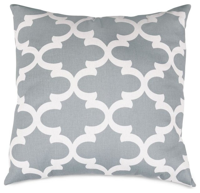 Modern Gray Pillows : Gray Trellis Extra Large Pillow - Contemporary - Decorative Pillows - by Majestic Home Goods, Inc.