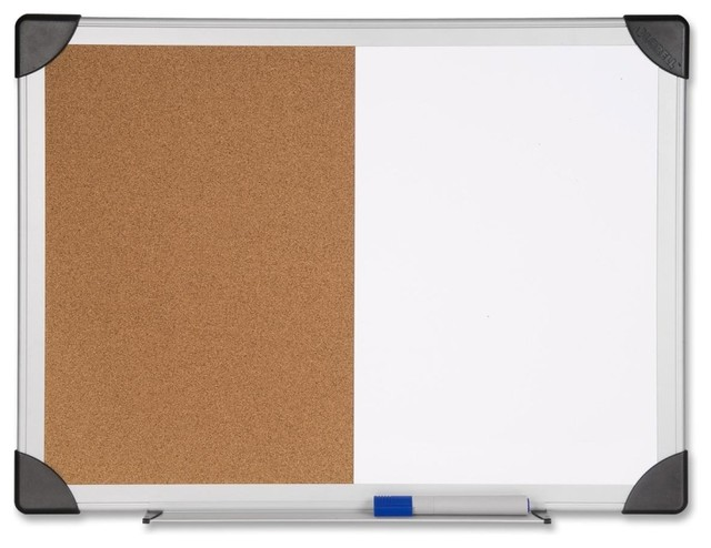 "Lorell Dry Erase/Cork Board Combination, 24""x36"", Natural ..."