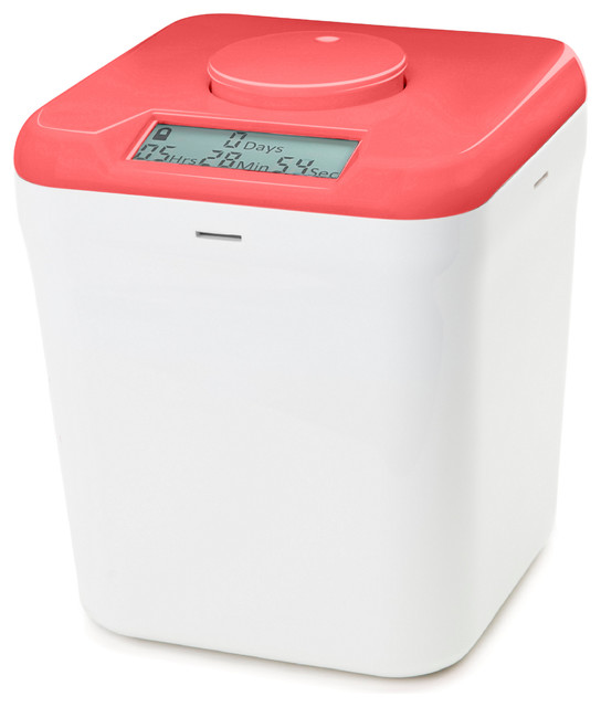 Kitchen Safe: Time Locking Container, Pink Lid and White Base ...