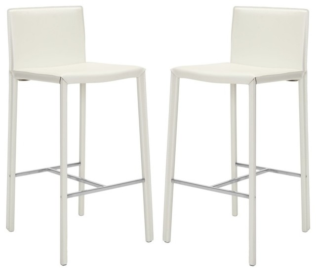 park ave white leather bar stools contemporary bar