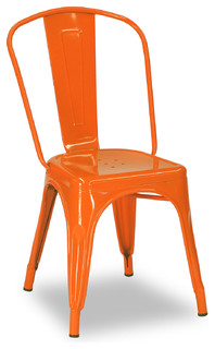 Tolix Chair Orange Modern Dining Chairs Brisbane By BrisbaneFurniture