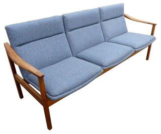 Solid Walnut Vintage Mid Century Sofa 2 800 Est Retail 980 On