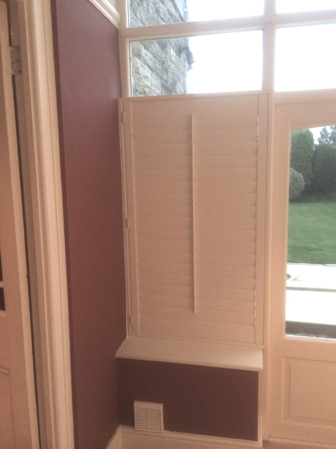 Plantation Shutters With Traditional Tilt Rod Weymouth