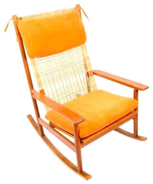 Hans Olsen Teak Rocking Chair with New Upholstery farmhouse-rocking ...