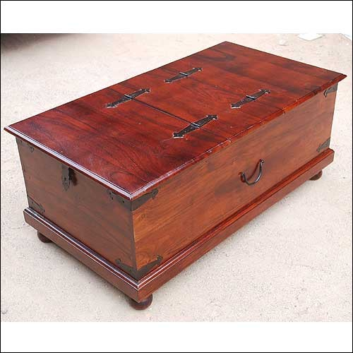 Lincoln study double top storage trunk coffee table contemporary coffee tables austin by Coffee table chest with storage
