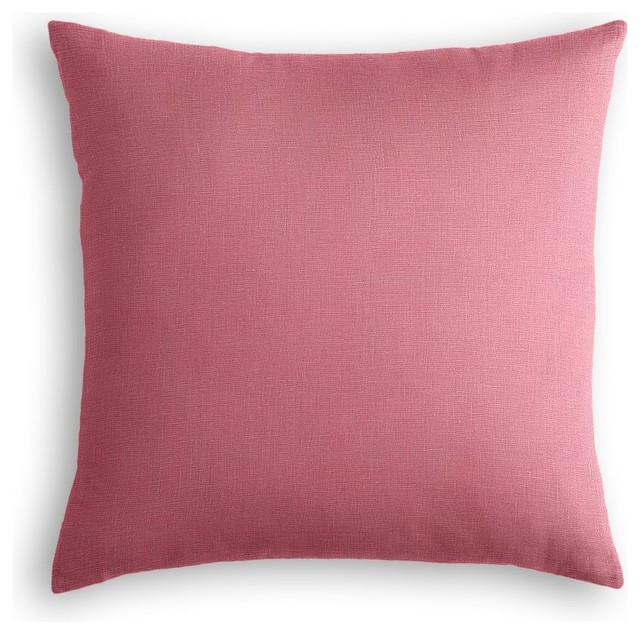 Lightweight Dark Pink Linen Throw Pillow - Contemporary - Decorative Pillows - by Loom Decor